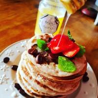 Les pancakes GF de Gaelle au miel de lavande bio