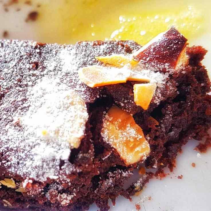 brownies au chocolat noir et amandes sans beurre